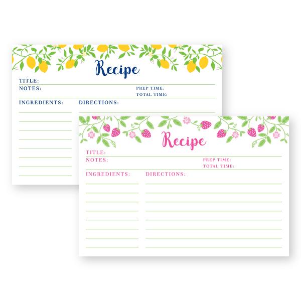 Recipe Cards Donovan Designs