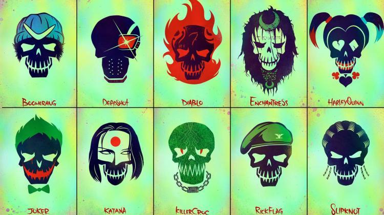 Suicide Squad skull slider