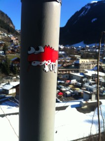 Don't Rain Lizard Sticker Snowboarding Morzine