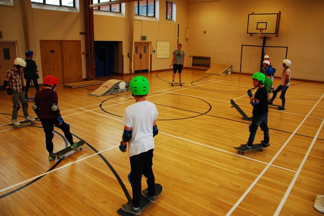 Don't Rain Skateboard instructing Priestlands - activities week Hampshire UK