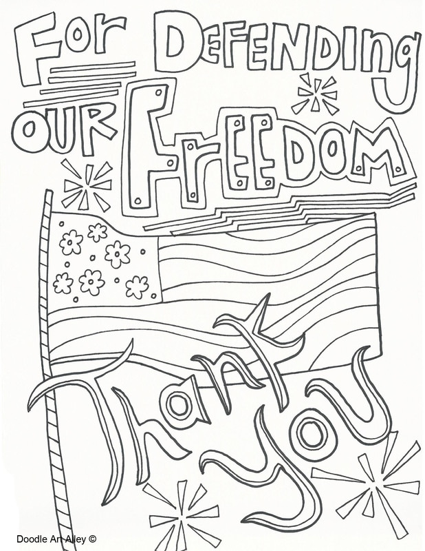 Memorial Day Coloring Pages - Doodle Art Alley