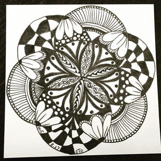 #doodlemeditation #doodles #art #zentangle #zen #落書き #2015