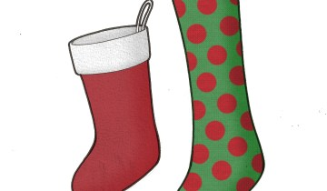 Christmas Stockings (felt-tip pen on marker-paper; rendered in Gimp)