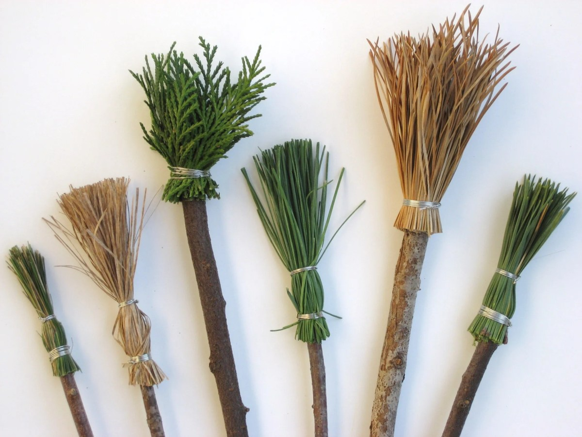 Making Paintbrushes with Natural Materials