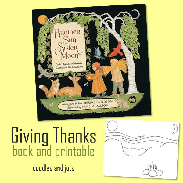 Giving Thanks Book and Printable