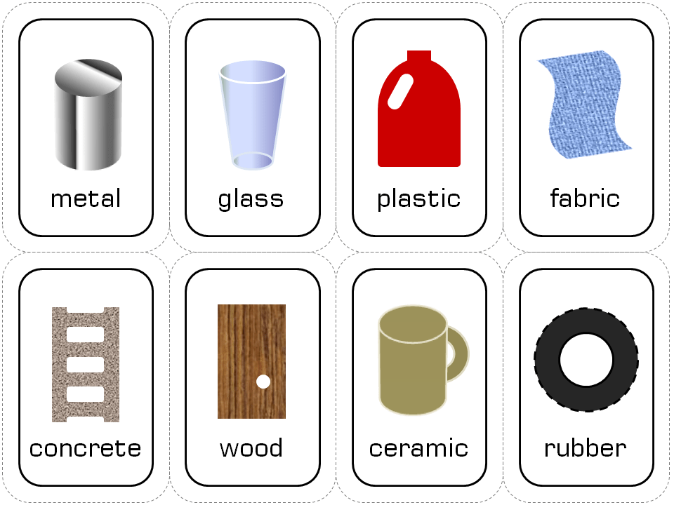 Building materials with printable doodles and jots for Waste material object