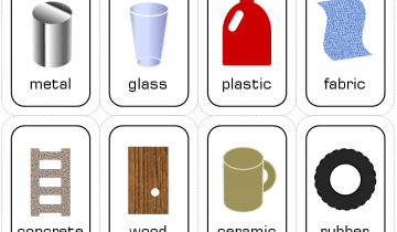 material flash cards