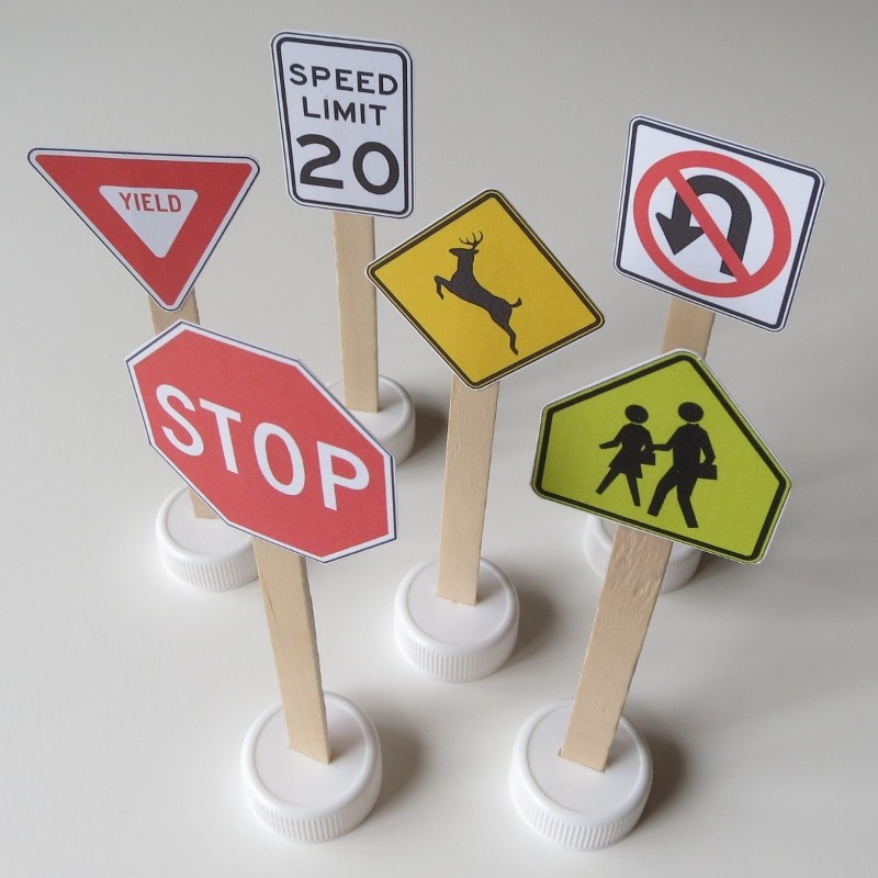 Printable Traffic Signs for Kids Doodles and Jots
