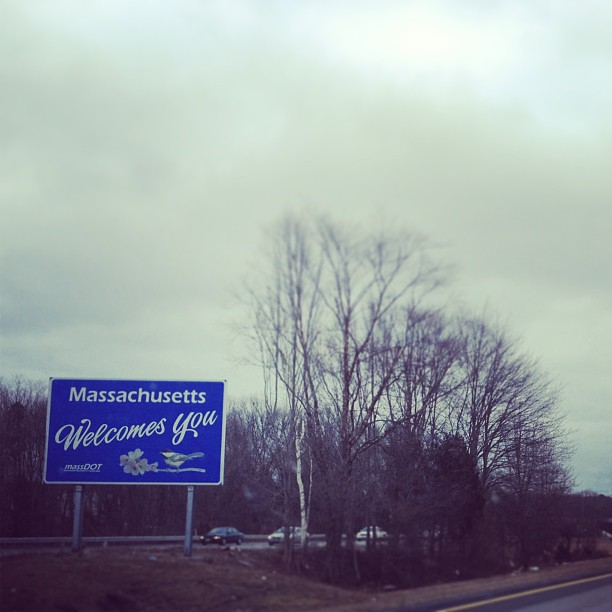 MA welcome sign