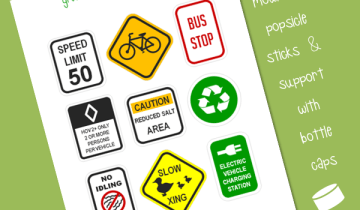 green signs for kids