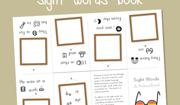 printable sight words book