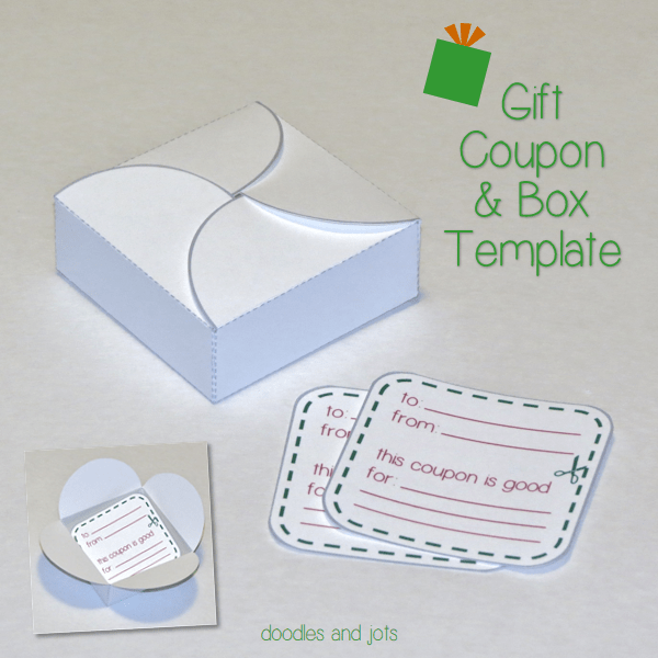 gift coupon printable doodles and jots