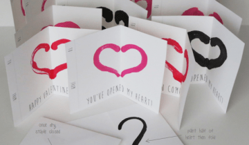 Inkblot Valentines with Printable