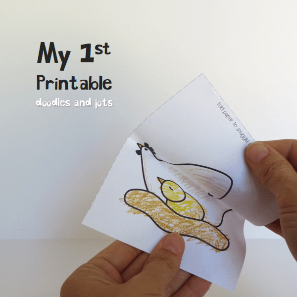 My 1st Printable Hatching Chick