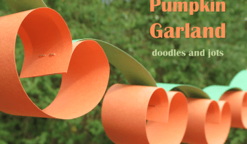 Easy Pumpkin Garland