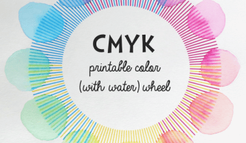 Printable CMYK Color Wheel Activity