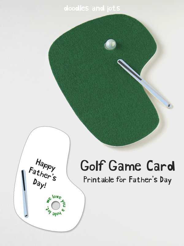 Printable Golf Card for Dad