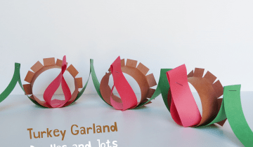 Turkey Paper Chain for Thanksgiving