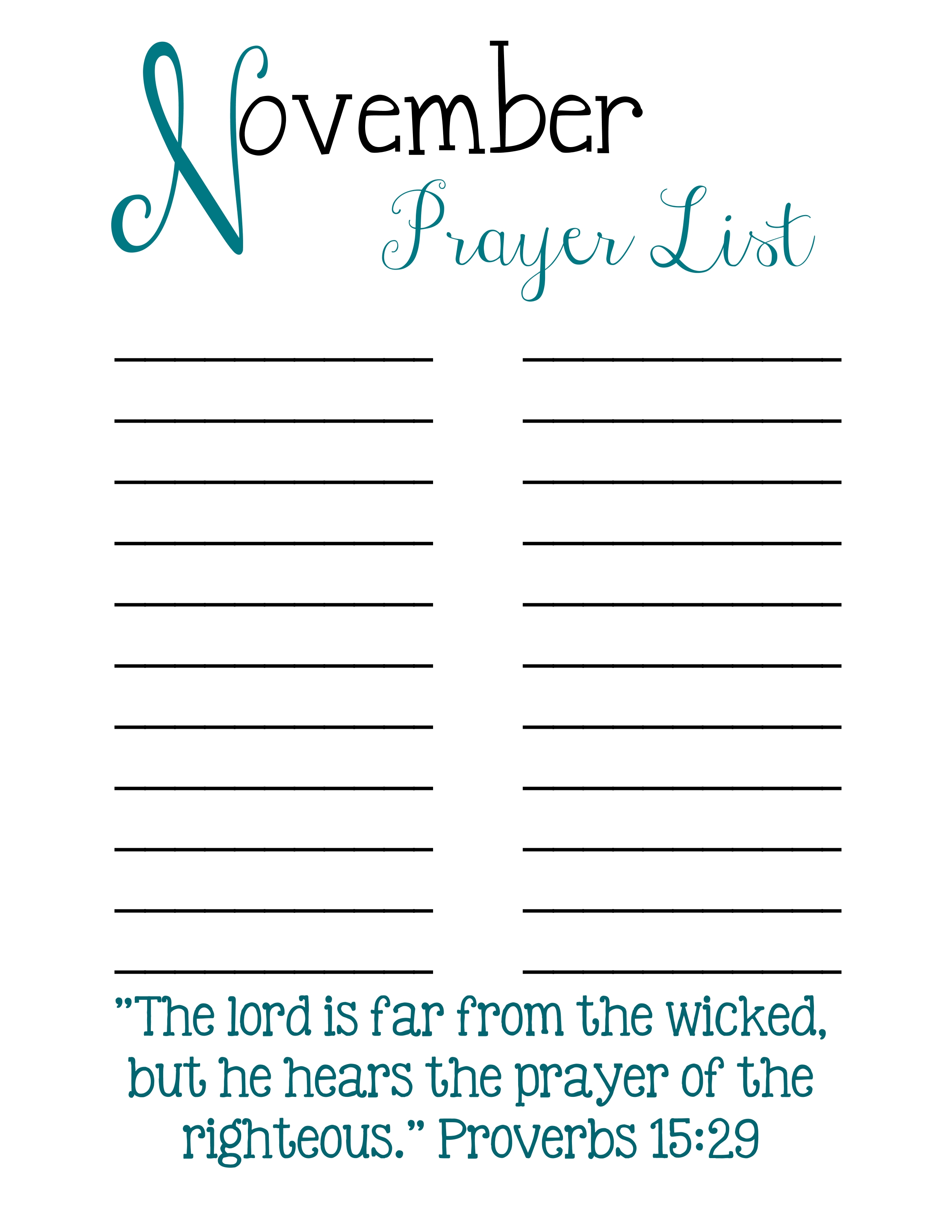 It is a picture of Exhilarating Printable Prayer List