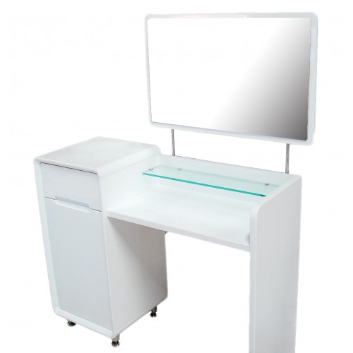 White High Gloss Dressing Table Combo Unit