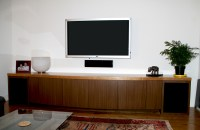 Comfortable furniture: Home theater cabinet
