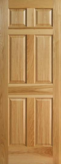 Hickory 6-Panel Interior Doors with Raised Panels ...