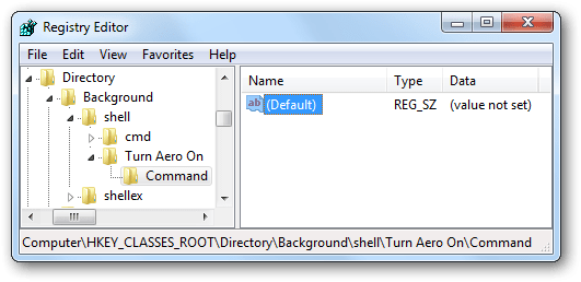 How to add turn aero on shortcut in windows 7 vista for Door to windows