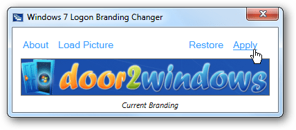 Change your logon screen 39 s windows branding logo in for Door to windows