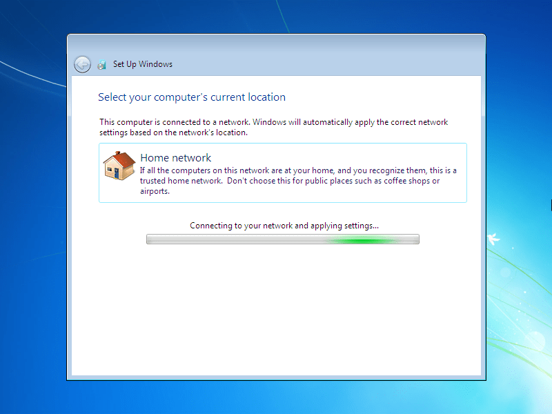 How to install windows 7 for Door to windows