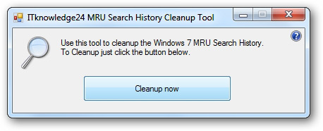 MRU Search Cleanup Tool