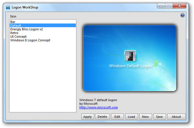 Logon WorkShop Main Screen