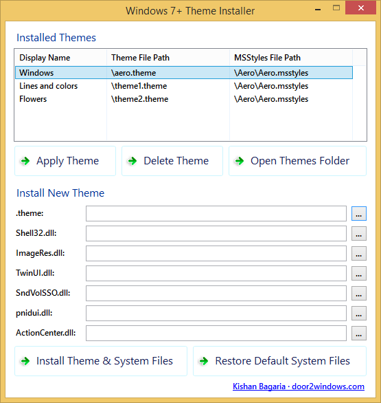 Windows 7+ Theme Installer
