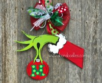 Grinch Door & Backyards Christmas Classroom Door Decoration