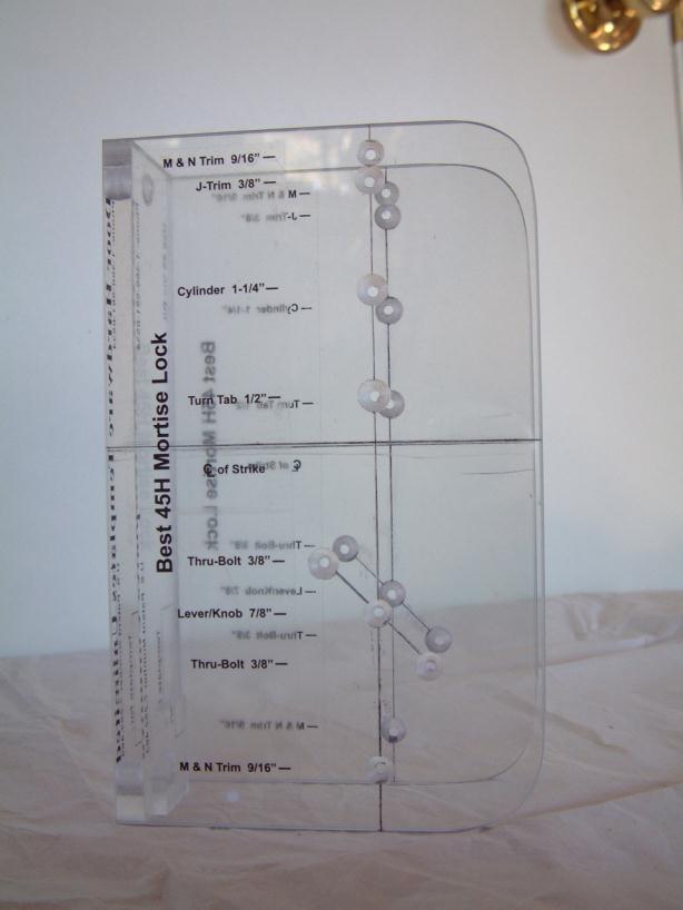Schlage Templates. installation templates pro lok. door backset ...