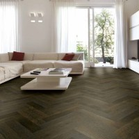 Tuscan Herringbone Smoked and Stained Black Oak Parquet ...