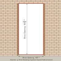 standard interior door sizes rough opening