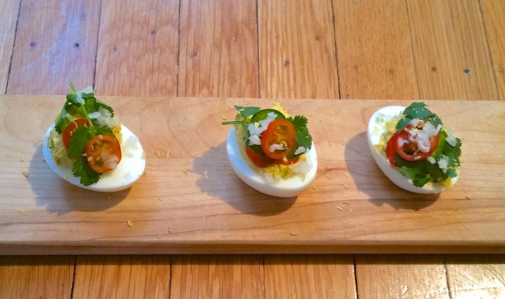 Spiced Deviled Eggs