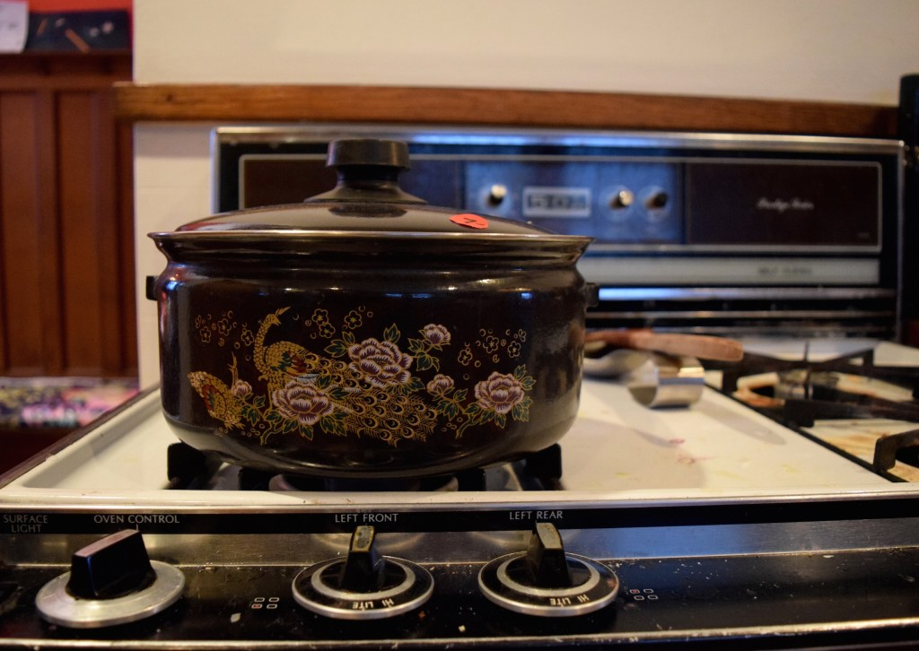 Vintage pot on stove