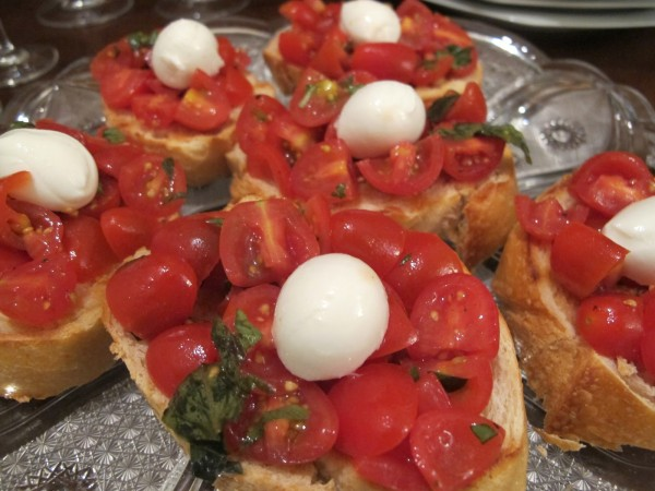 bruschetta tomate cereja