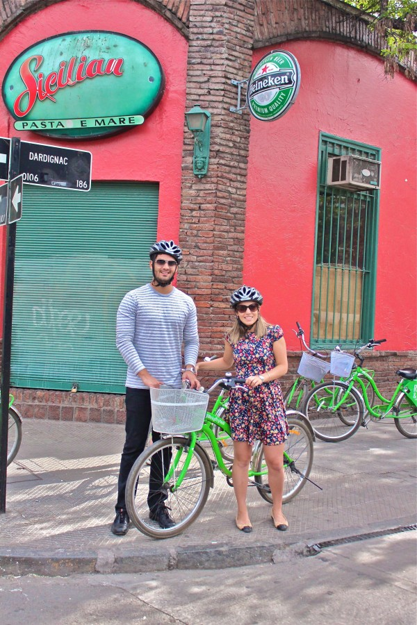 passeio bicicleta santiago