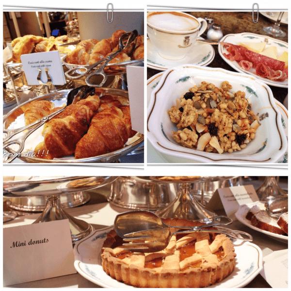 cafe da manha Grand Hotel et de Milan