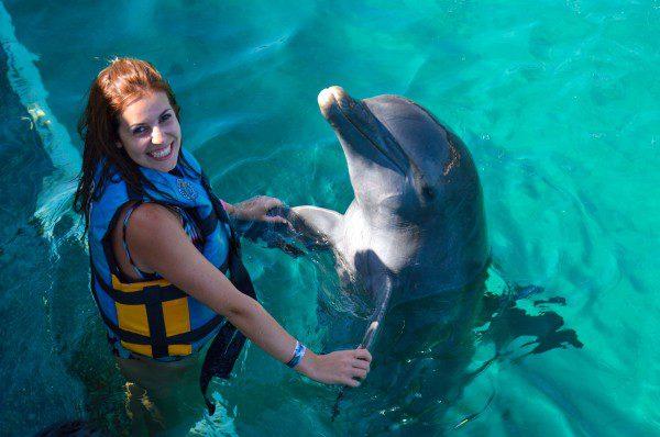 nadar com golfinho_-7