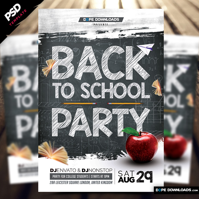 Back to School Party 2015 - Dope Downlods - back to school flyers