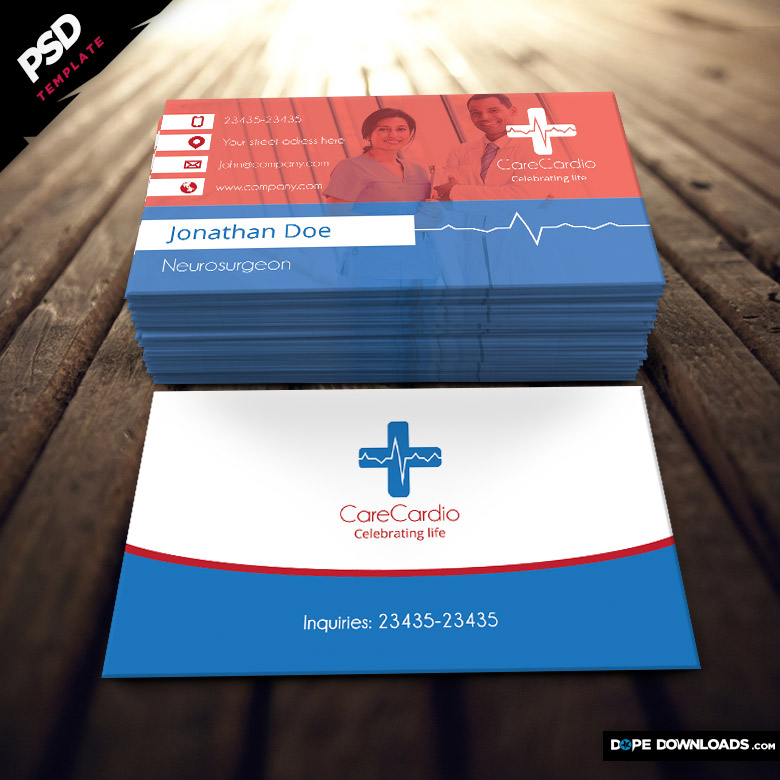 Medical Business Card - Dope Downloads - medical business card templates