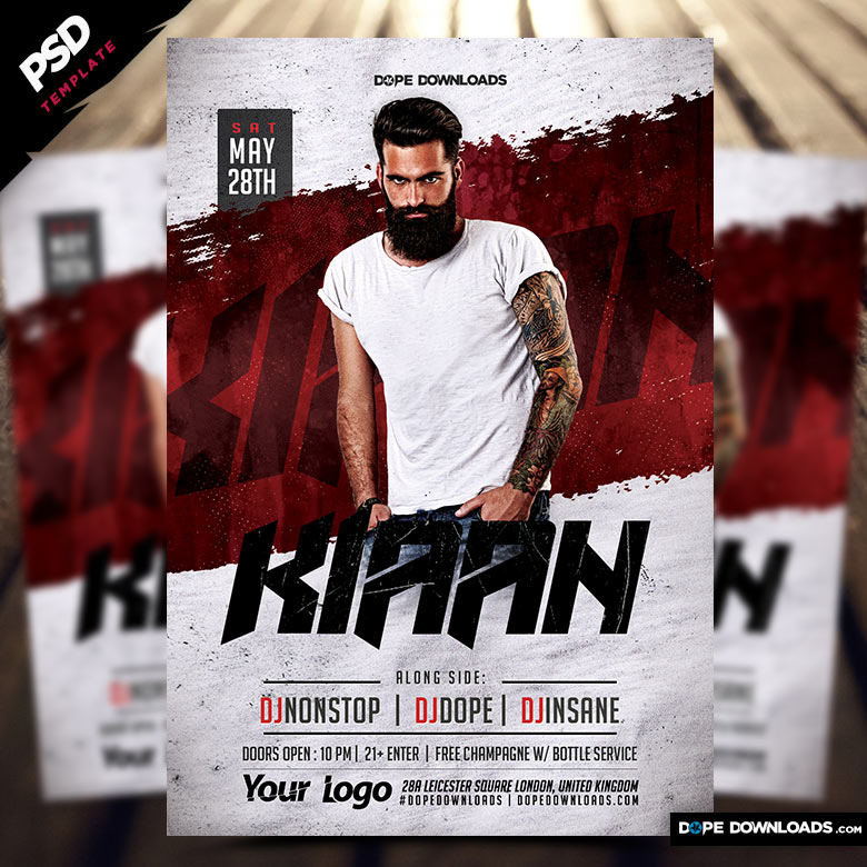 Nightclub Dj Flyer Template \u2013 Dope Downloads