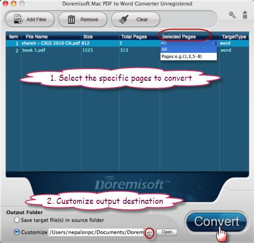 Turn PDF file into Word document, fast turn PDF to Word on Mac