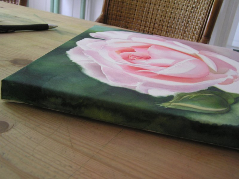 Large Of Watercolor On Canvas