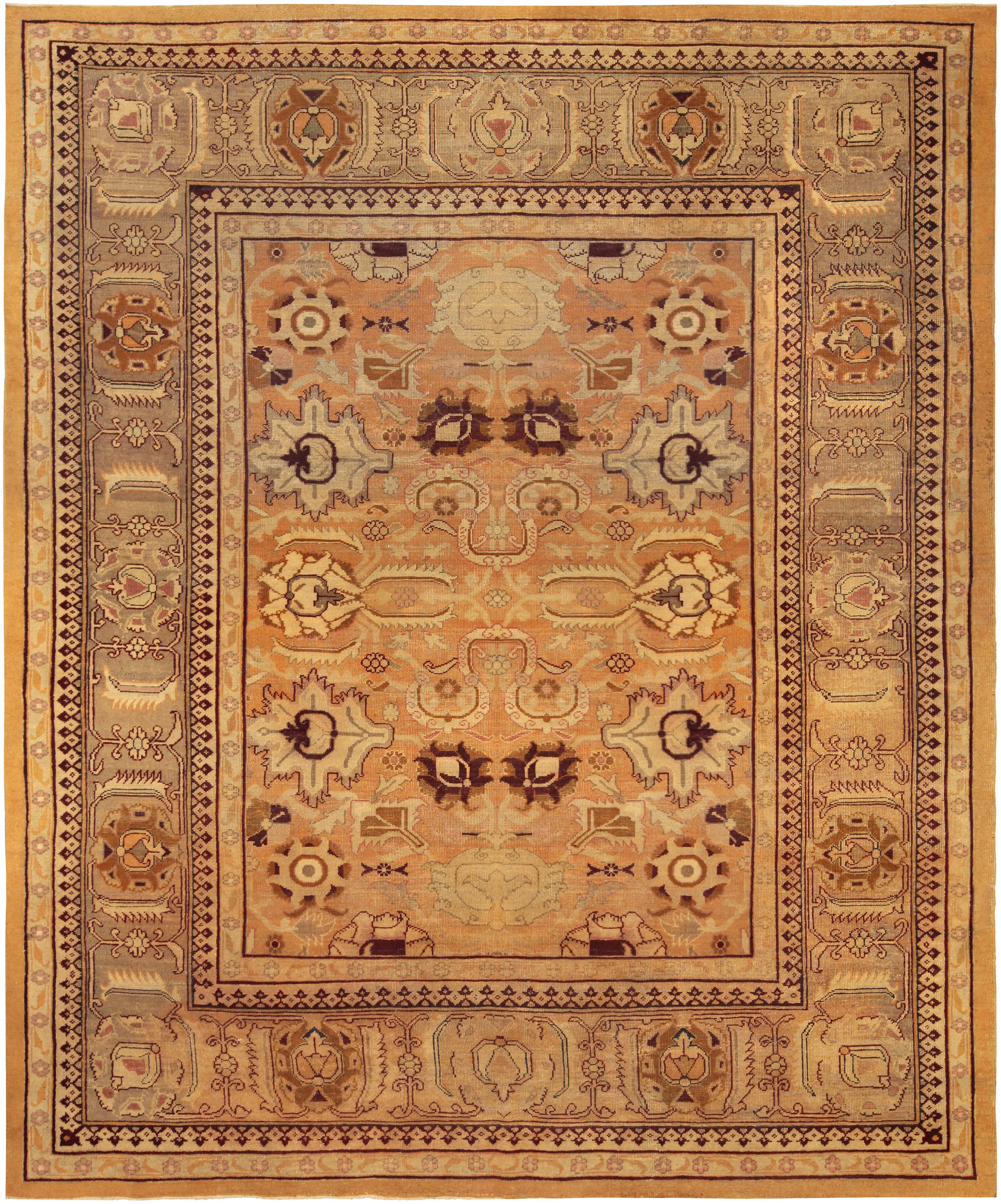 Antique Indian Amritsar Rug Bb5191 By Doris Leslie Blau