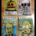 tiny halloween watercolours