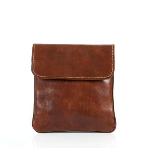 Hand-buffed calf-skin leather